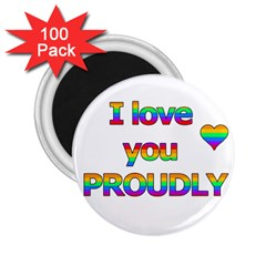 I Love You Proudly 2 2 25  Magnets (100 Pack)  by Valentinaart