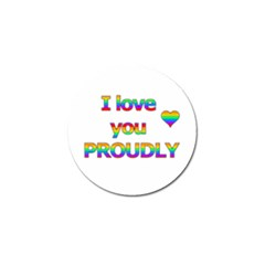 I Love You Proudly 2 Golf Ball Marker (4 Pack) by Valentinaart