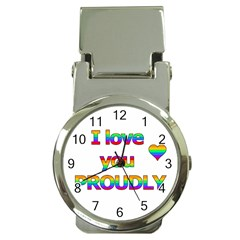 I Love You Proudly 2 Money Clip Watches by Valentinaart