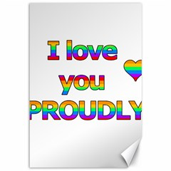 I Love You Proudly 2 Canvas 12  X 18   by Valentinaart