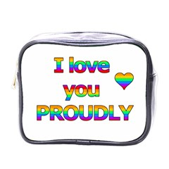 I Love You Proudly 2 Mini Toiletries Bags by Valentinaart