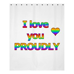 I Love You Proudly 2 Shower Curtain 60  X 72  (medium)  by Valentinaart