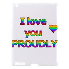 I Love You Proudly 2 Apple Ipad 3/4 Hardshell Case (compatible With Smart Cover) by Valentinaart
