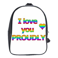I Love You Proudly 2 School Bags (xl)  by Valentinaart