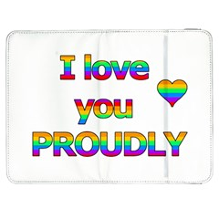 I love you proudly 2 Samsung Galaxy Tab 7  P1000 Flip Case by Valentinaart