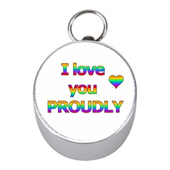 I Love You Proudly 2 Mini Silver Compasses by Valentinaart