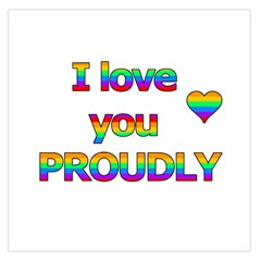 I Love You Proudly 2 Large Satin Scarf (square) by Valentinaart