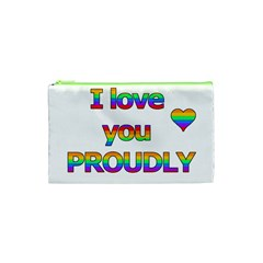 I Love You Proudly 2 Cosmetic Bag (xs) by Valentinaart
