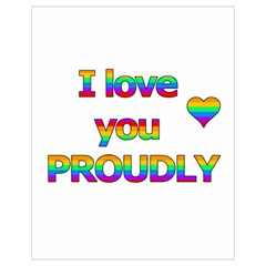 I Love You Proudly 2 Drawstring Bag (small) by Valentinaart