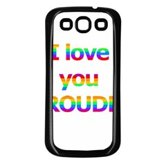 Proudly Love Samsung Galaxy S3 Back Case (black) by Valentinaart