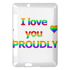 Proudly Love Kindle Fire Hdx Hardshell Case by Valentinaart
