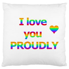 Proudly Love Standard Flano Cushion Case (two Sides) by Valentinaart