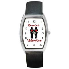 Be Mine Valentine Barrel Style Metal Watch by Valentinaart