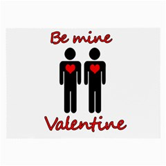 Be Mine Valentine Large Glasses Cloth (2 Side) by Valentinaart