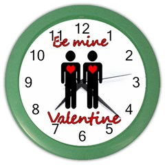 Be Mine Valentine Color Wall Clocks by Valentinaart