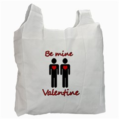 Be Mine Valentine Recycle Bag (one Side) by Valentinaart