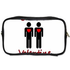 Be Mine Valentine Toiletries Bags 2 Side by Valentinaart
