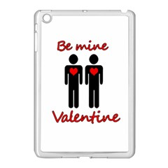 Be mine Valentine Apple iPad Mini Case (White) by Valentinaart