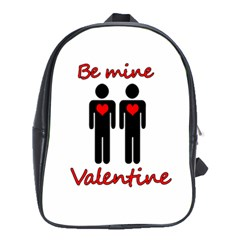 Be Mine Valentine School Bags (xl)  by Valentinaart