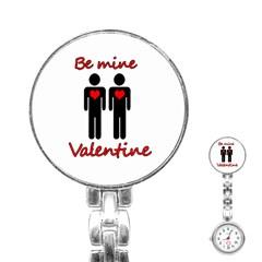 Be Mine Valentine Stainless Steel Nurses Watch by Valentinaart