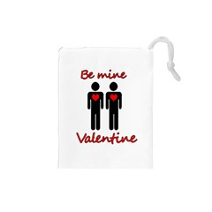 Be Mine Valentine Drawstring Pouches (small)  by Valentinaart