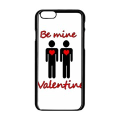 Be Mine Valentine Apple Iphone 6/6s Black Enamel Case by Valentinaart