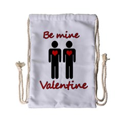 Be Mine Valentine Drawstring Bag (small) by Valentinaart