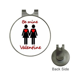Be My Valentine 2 Hat Clips With Golf Markers by Valentinaart