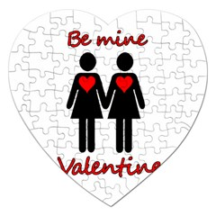 Be My Valentine 2 Jigsaw Puzzle (heart) by Valentinaart