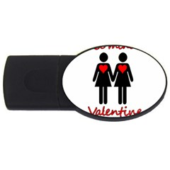 Be My Valentine 2 Usb Flash Drive Oval (4 Gb)  by Valentinaart
