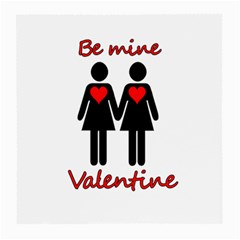 Be My Valentine 2 Medium Glasses Cloth (2 Side) by Valentinaart