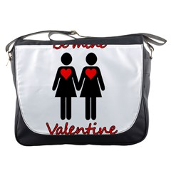 Be My Valentine 2 Messenger Bags by Valentinaart