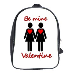 Be My Valentine 2 School Bags (xl)  by Valentinaart