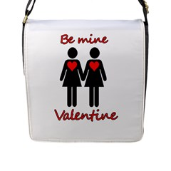 Be My Valentine 2 Flap Messenger Bag (l)  by Valentinaart
