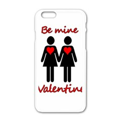 Be My Valentine 2 Apple Iphone 6/6s White Enamel Case by Valentinaart