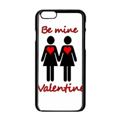 Be My Valentine 2 Apple Iphone 6/6s Black Enamel Case by Valentinaart