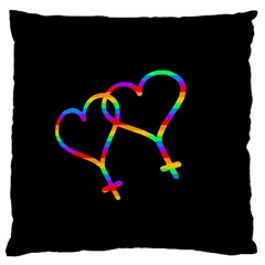 Love Is Love Large Cushion Case (two Sides) by Valentinaart