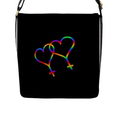 Love Is Love Flap Messenger Bag (l)  by Valentinaart