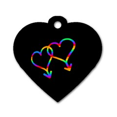 Love Is Love Dog Tag Heart (one Side) by Valentinaart