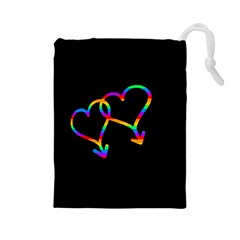 Love Is Love Drawstring Pouches (large)  by Valentinaart