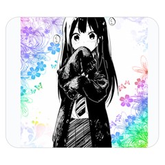Shy Anime Girl Double Sided Flano Blanket (small)  by Brittlevirginclothing