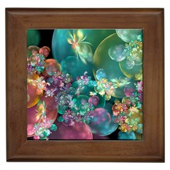 Butterflies, Bubbles, And Flowers Framed Tiles by WolfepawFractals