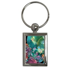 Butterflies, Bubbles, And Flowers Key Chains (rectangle)  by WolfepawFractals