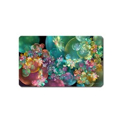 Butterflies, Bubbles, And Flowers Magnet (name Card) by WolfepawFractals