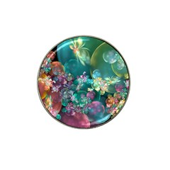 Butterflies, Bubbles, And Flowers Hat Clip Ball Marker (10 Pack) by WolfepawFractals