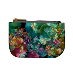 Butterflies, Bubbles, And Flowers Mini Coin Purses by WolfepawFractals