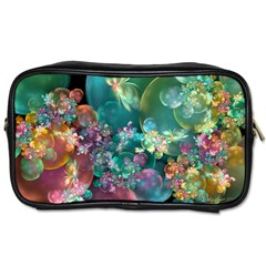 Butterflies, Bubbles, And Flowers Toiletries Bags by WolfepawFractals
