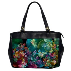 Butterflies, Bubbles, And Flowers Office Handbags by WolfepawFractals