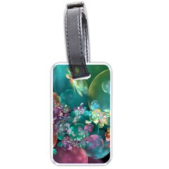 Butterflies, Bubbles, And Flowers Luggage Tags (one Side)  by WolfepawFractals