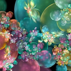 Butterflies, Bubbles, And Flowers Magic Photo Cubes by WolfepawFractals